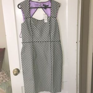 WHBM black and white dress size 12
